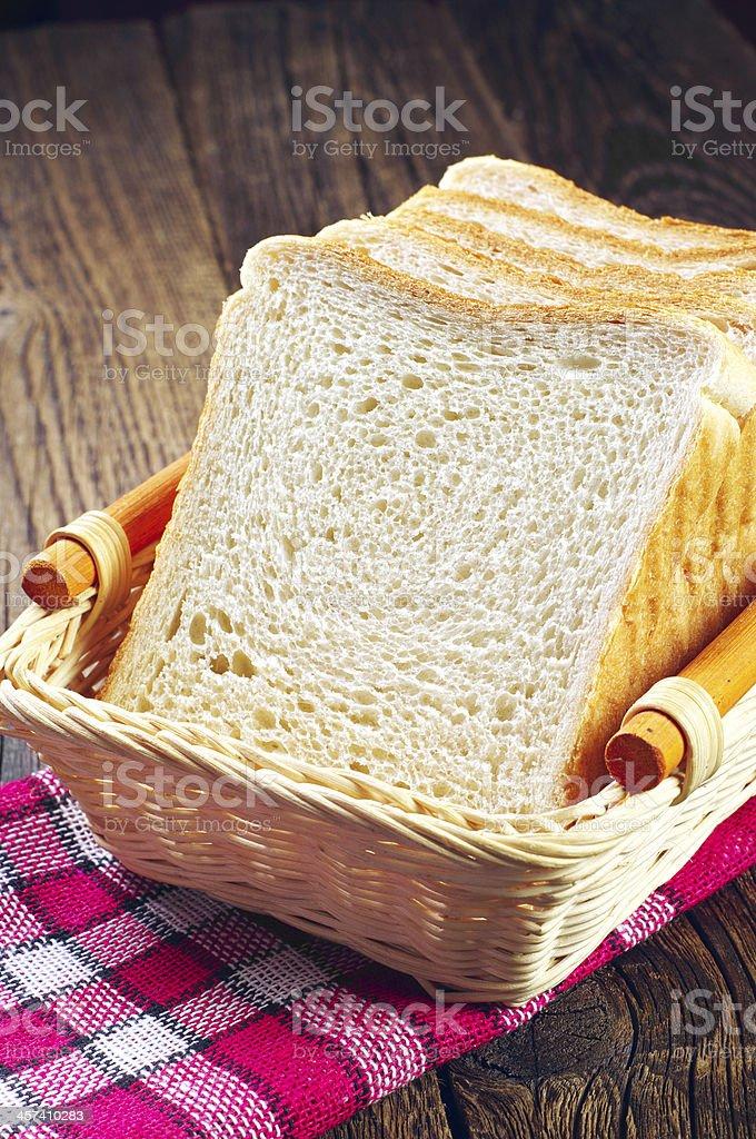 Rodaja de pan tostado foto de stock libre de derechos