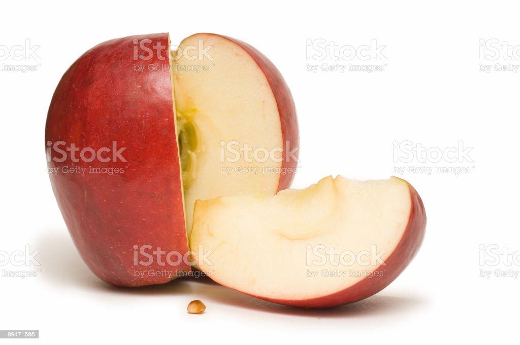 Rodajas de manzana foto de stock libre de derechos