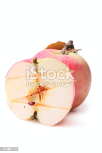 Sliced Apple Stock Photo & More Pictures of Apple - Fruit