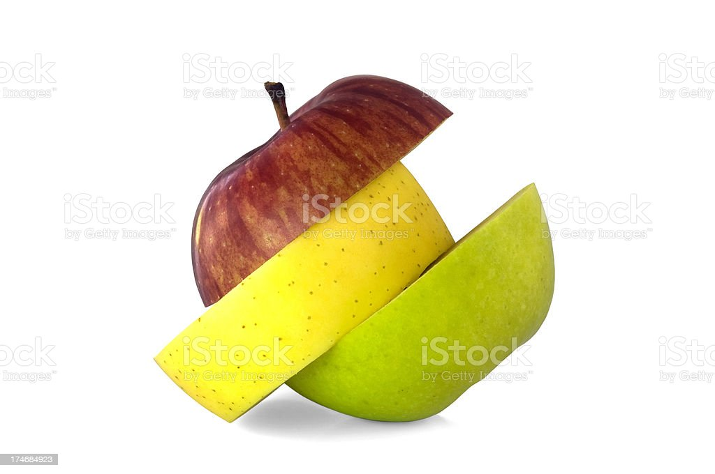 Sliced apples royalty-free stock photo