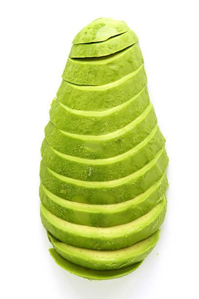 Sliced Avocado (+ path) stock photo