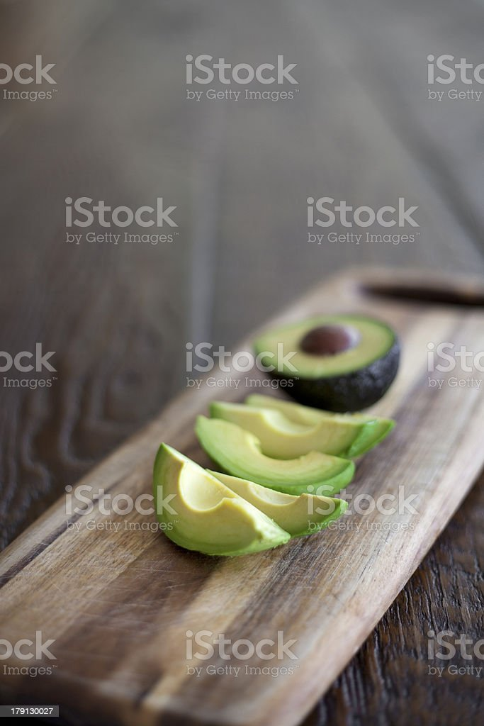 Sliced avocado stock photo