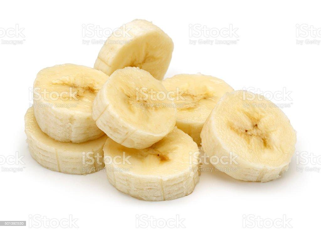 Sliced Banana bildbanksfoto