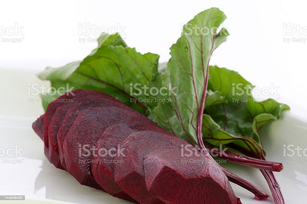 Sliced beet stock photo