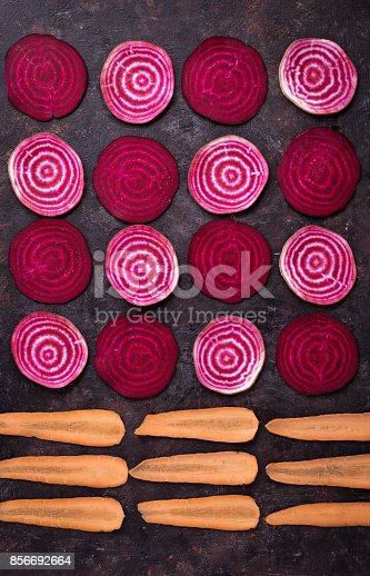 istock Sliced beetroot and carrots 856692664