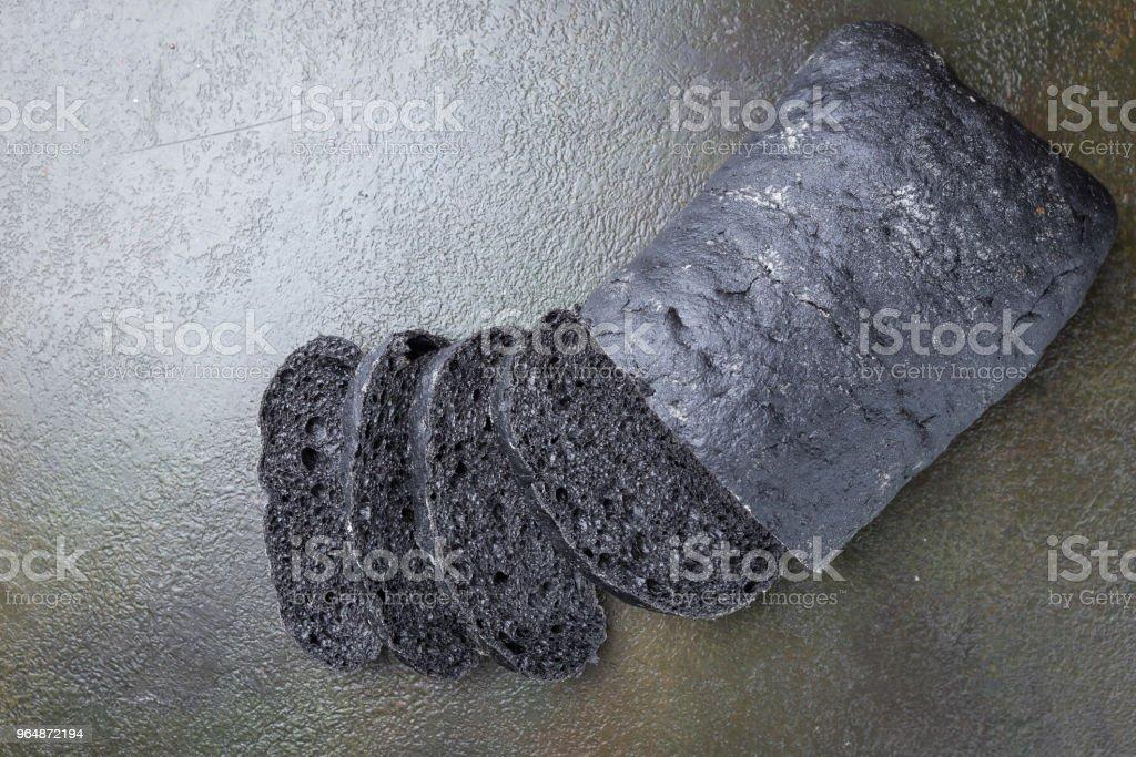Sliced black bread royalty-free stock photo