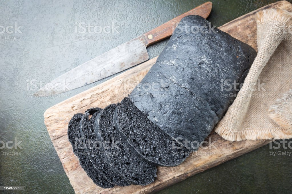 Sliced black bread royalty-free stock photo