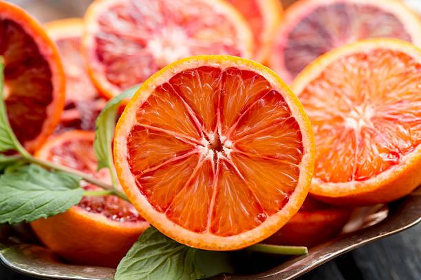 Sliced blood orange stock photo