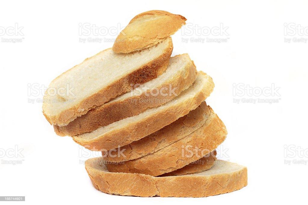 Sliced bread arrangement royalty-free stock photo