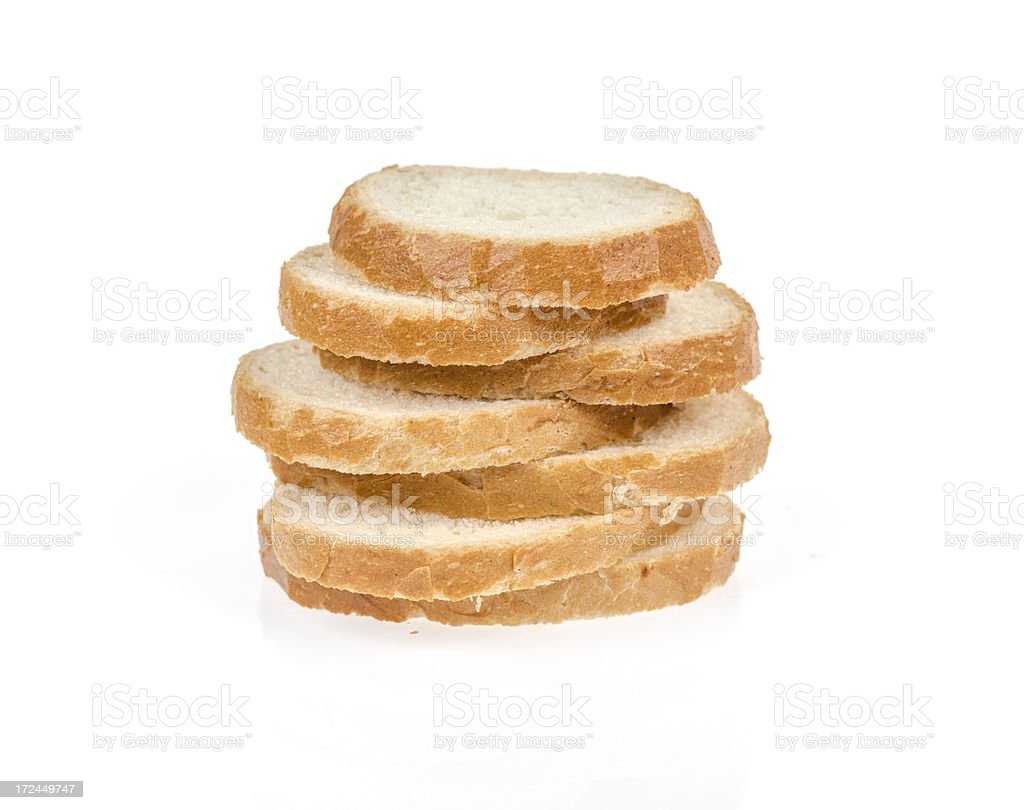 Sliced bread isolated on white background royalty-free stock photo
