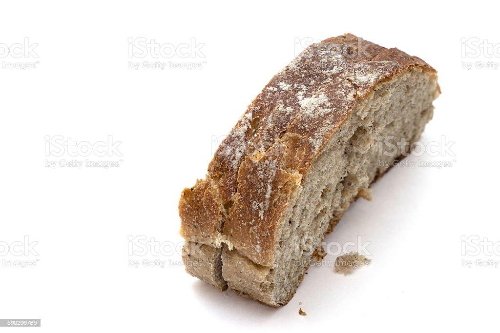 Нарезной хлеб, изолированные на белом фоне  Стоковые фото Стоковая фотография