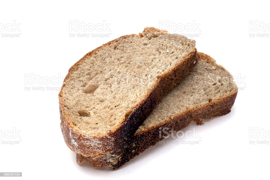 sliced bread isolated on white background royaltyfri bildbanksbilder