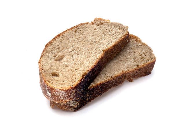 pan en rebanadas aislado sobre fondo blanco  - pan multicereales fotografías e imágenes de stock