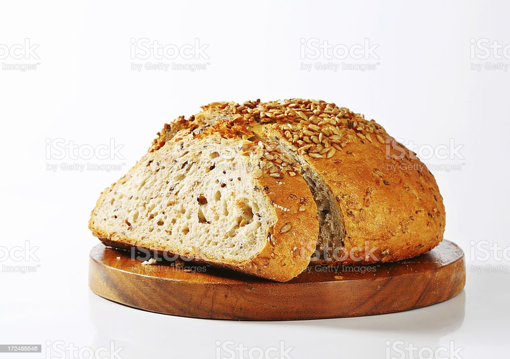 sliced bread loaf royalty-free stock photo