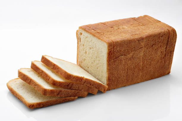 sliced bread on white Bread, Loaf of Bread, Slice, Sliced Bread, Falling bread stock pictures, royalty-free photos & images