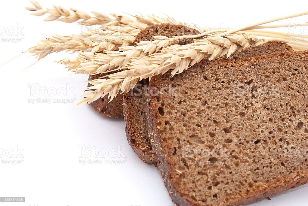 Sliced bread with ears royalty-free stock photo