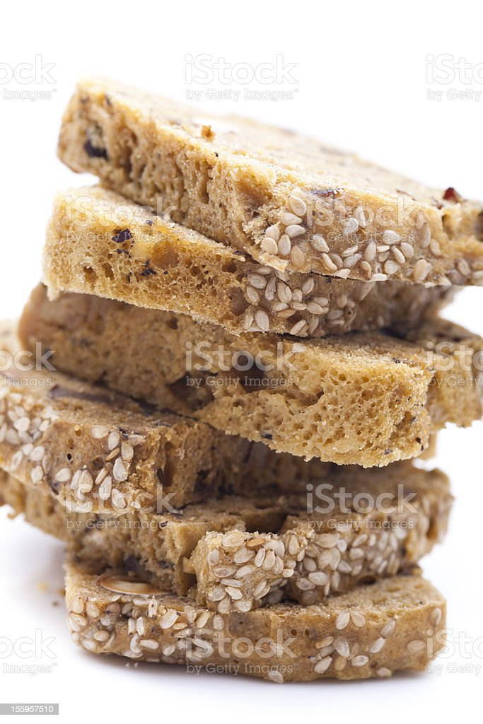 sliced brown bread royalty-free stock photo