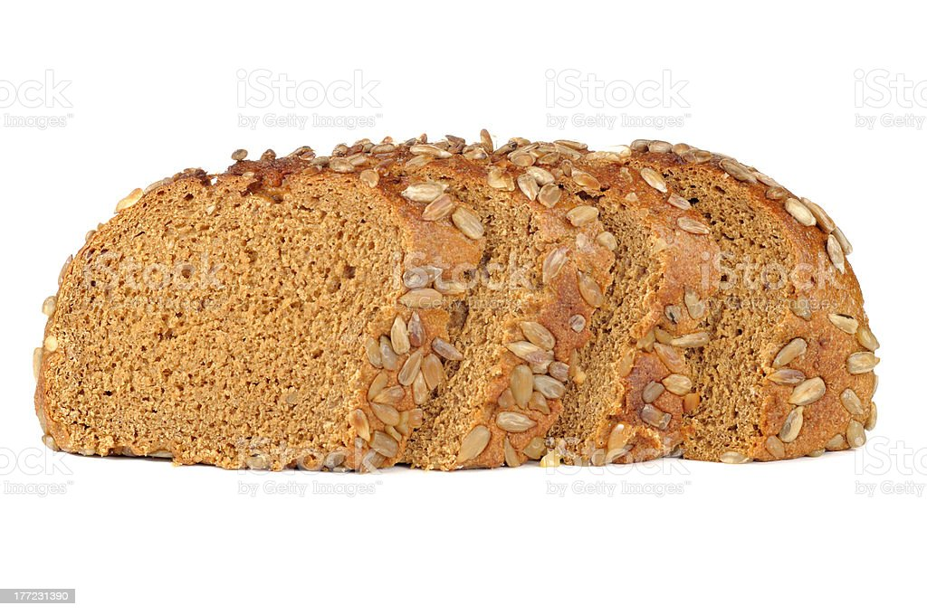 Sliced Brown Bread with Sunflower Seeds royalty-free stock photo