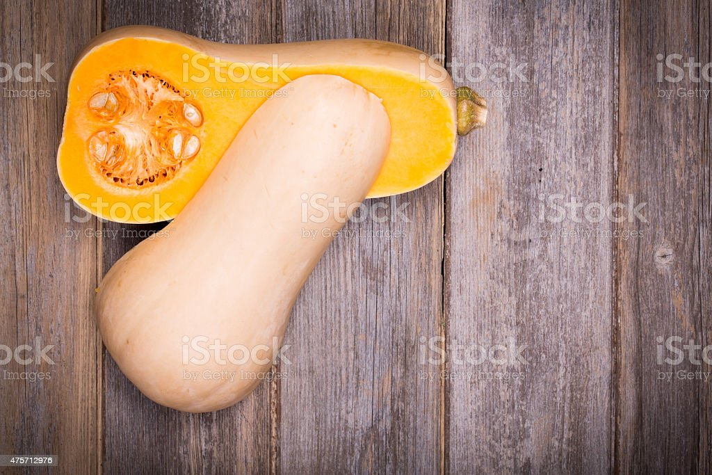 Sliced butternut squash stock photo