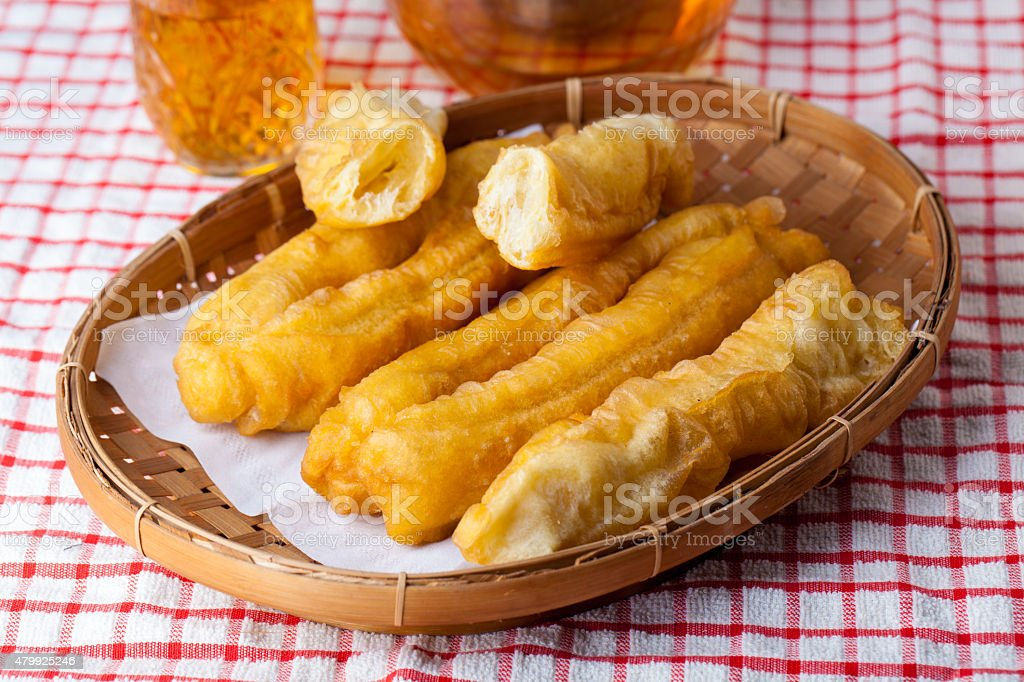 Sliced Cakwe Indonesian Traditional Food for breakfast stock photo
