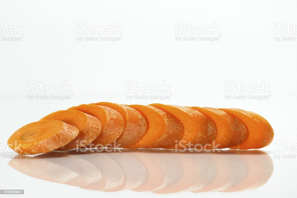 Sliced carrot stock photo
