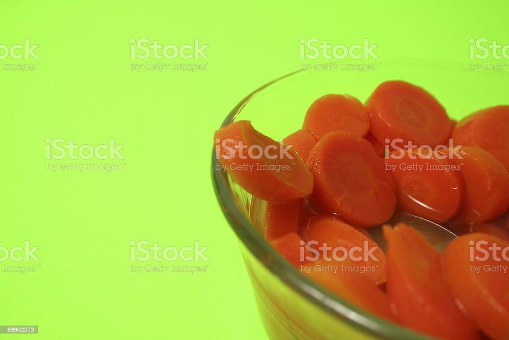Sliced Carrots royalty-free stock photo