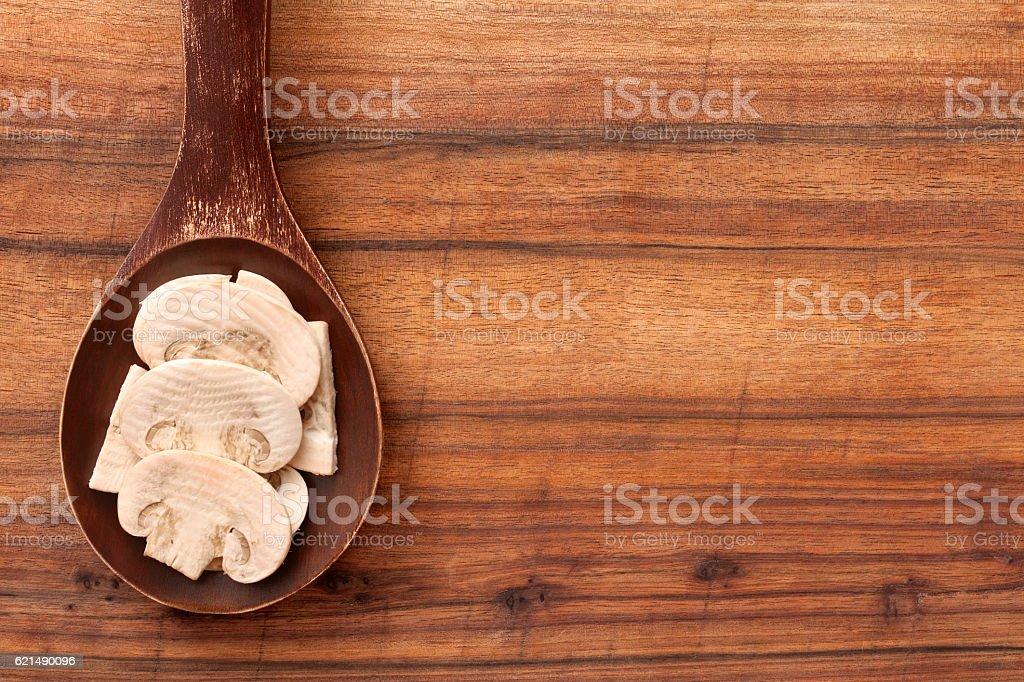 champignon tranché champignons photo libre de droits