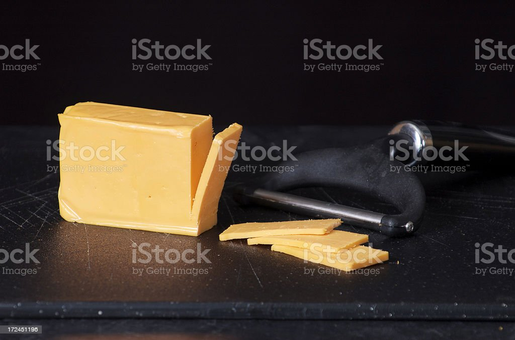 sliced cheese royalty-free stock photo