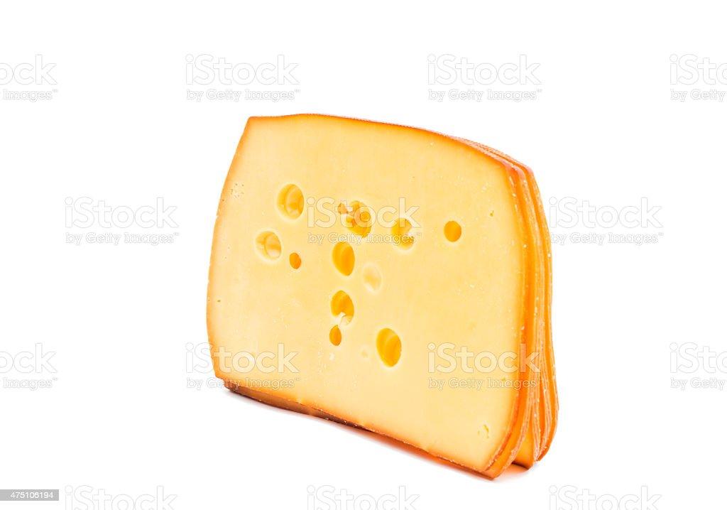 sliced cheese stock photo