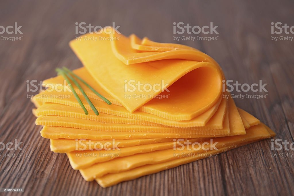 sliced cheese stock photo