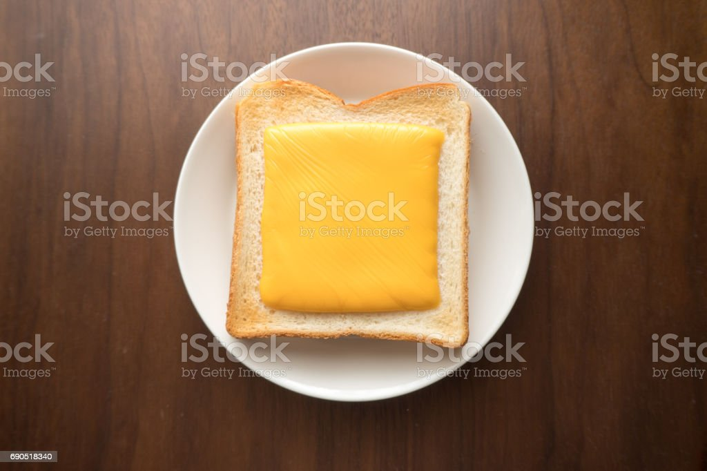 スライス チーズ トースト ストックフォト