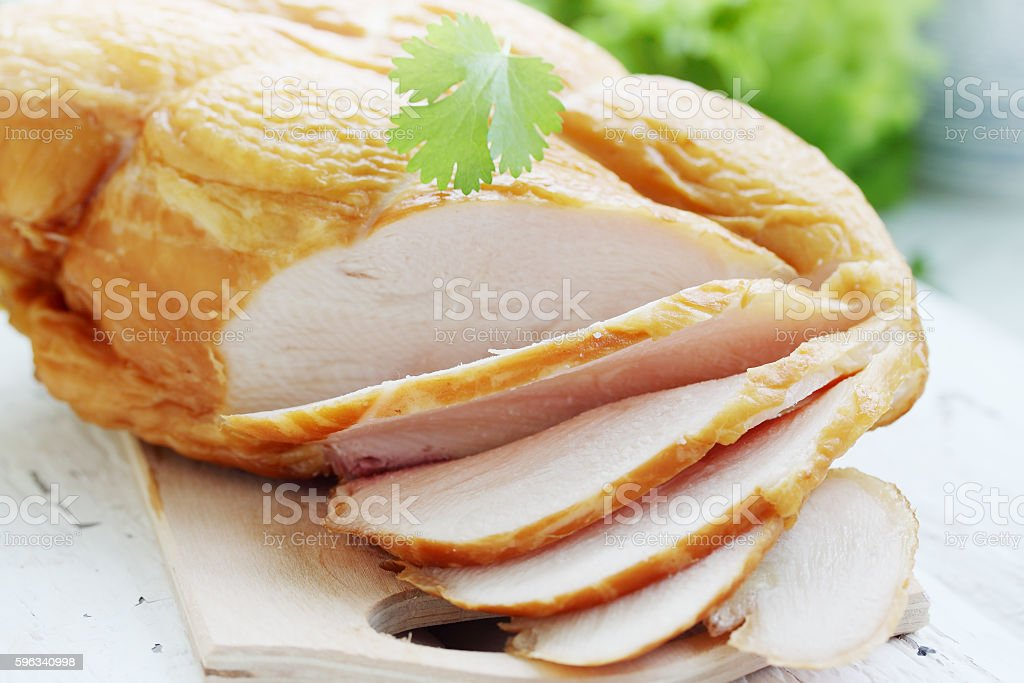 sliced  chicken breast royalty-free stock photo