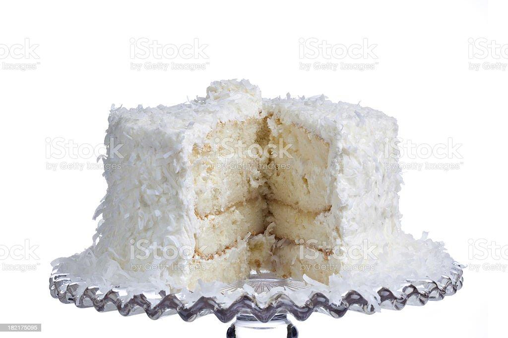 Fatias de bolo de coco - foto de acervo