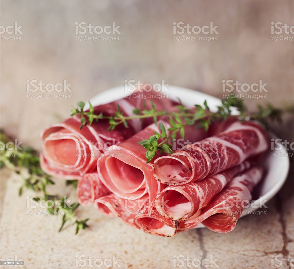 Sliced Cold Cuts stock photo