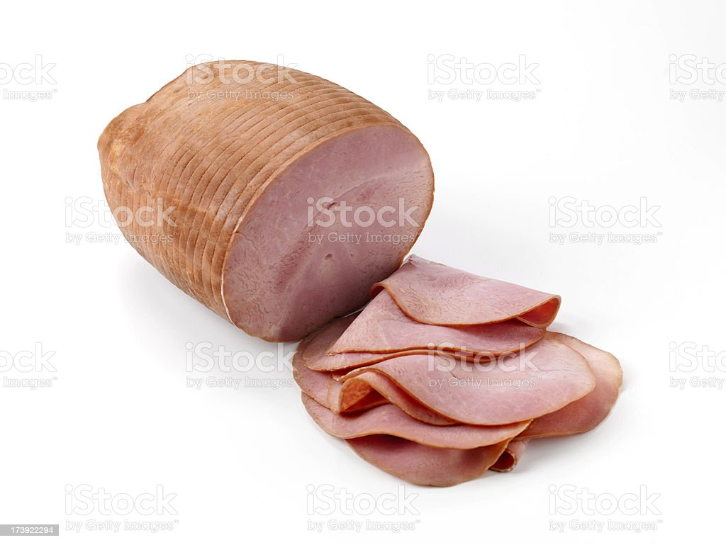 Sliced Country Smoked Ham royalty-free stock photo