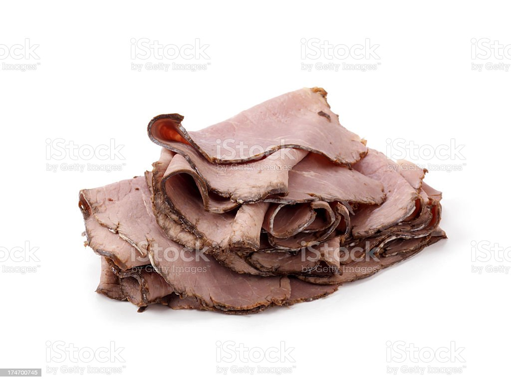 Sliced Deli Roast Beef stock photo