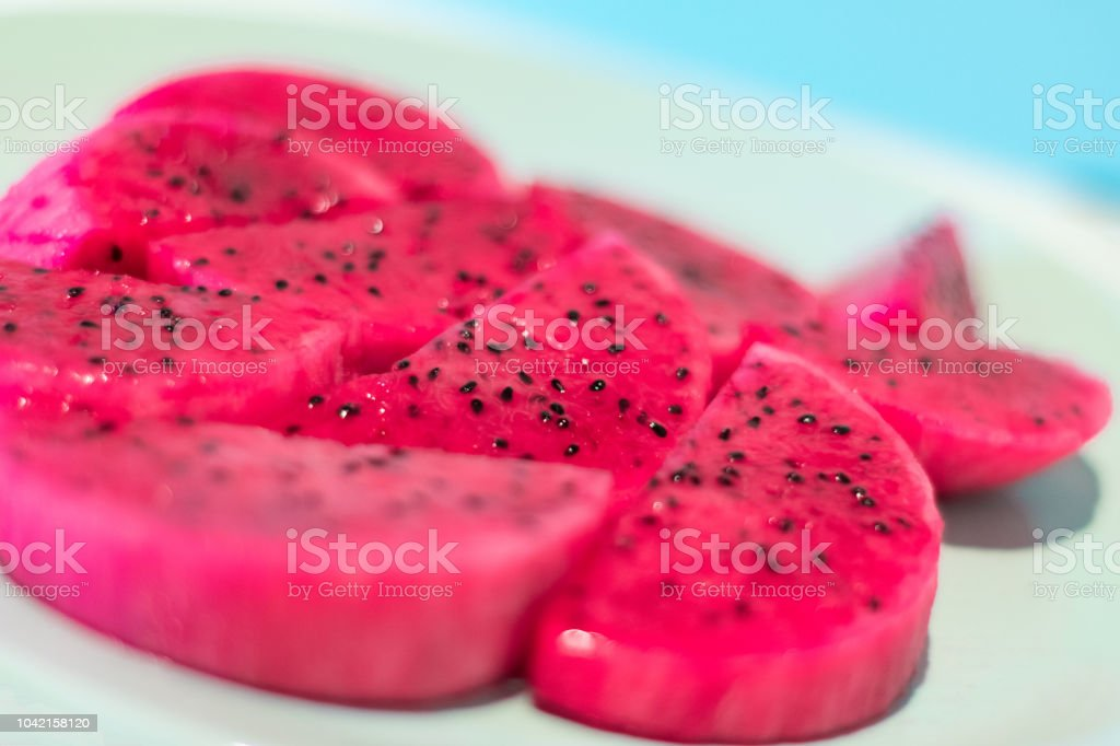 Sliced Dragon Fruit royalty-free stock photo