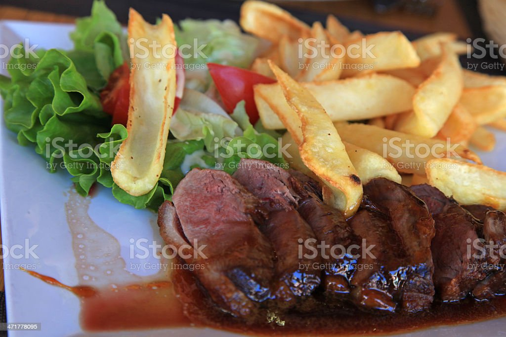 Sliced duck roasted meat royalty-free stock photo