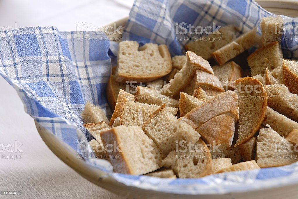 sliced fresh bread on the table royalty-free stock photo
