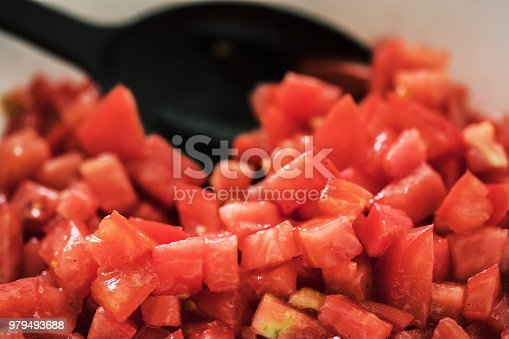 Red tomato sliced, close-up