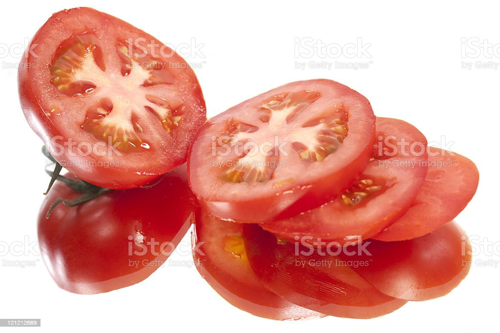 Sliced Fresh Tomatoes stock photo