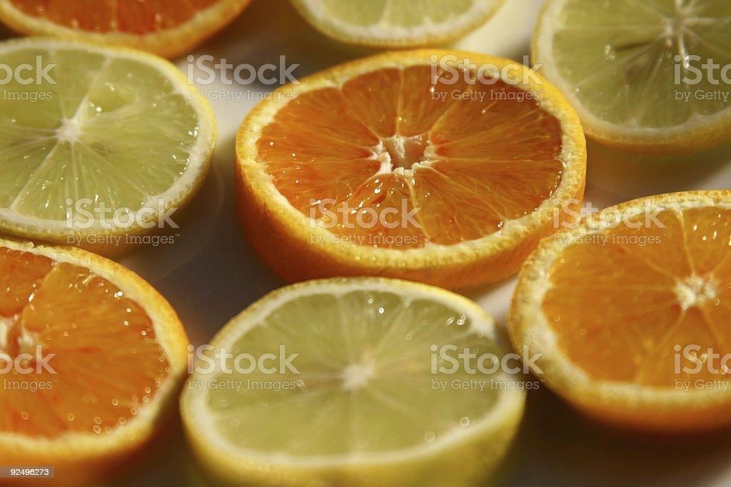 sliced fruit royalty-free stock photo
