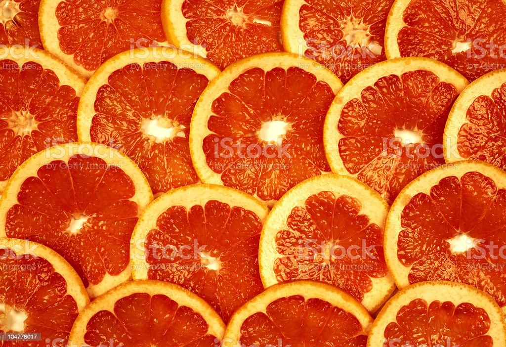 Sliced grapefruit stock photo