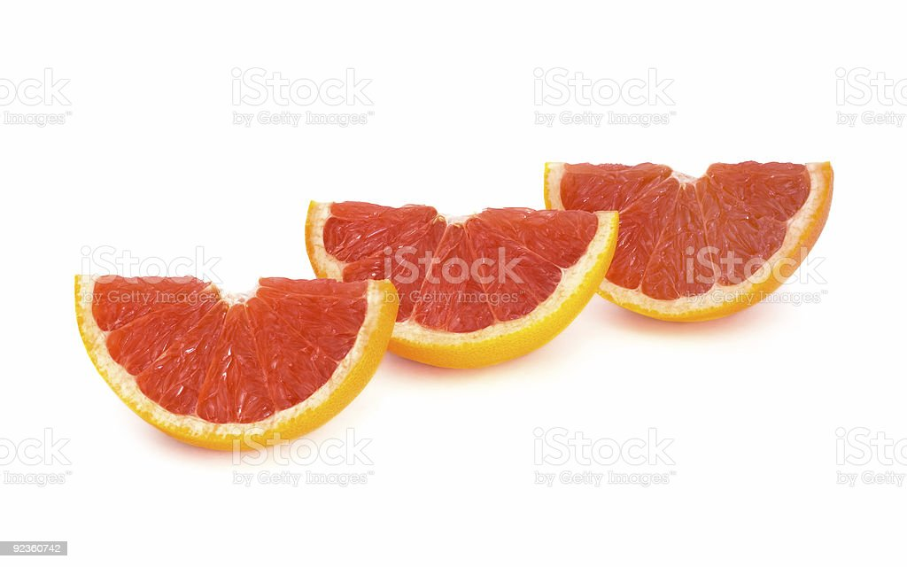 Sliced Grapefruit royalty-free stock photo