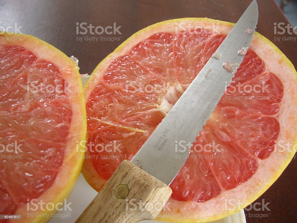 Sliced Grapefruit royalty-free stock photo