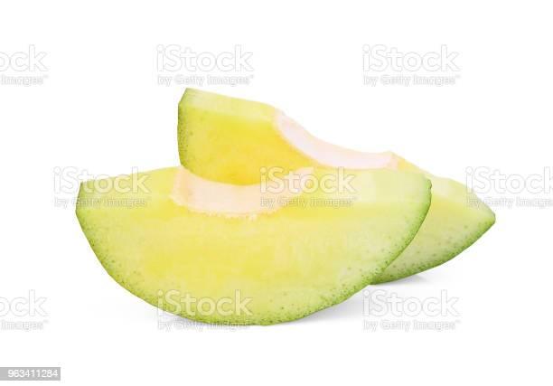 Pokrojone Zielone Mango Wyizolowane Na Białym Tle - zdjęcia stockowe i więcej obrazów Część