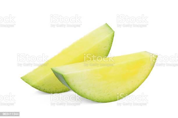 Pokrojone Zielone Mango Wyizolowane Na Białym Tle - zdjęcia stockowe i więcej obrazów Bez ludzi