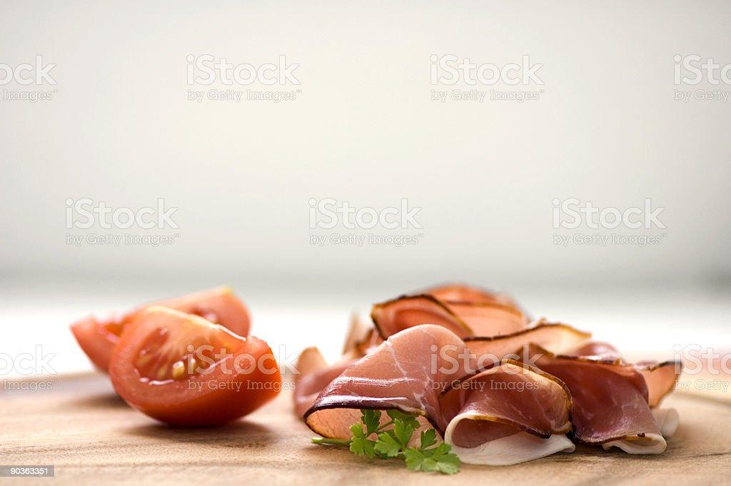 sliced ham royalty-free stock photo