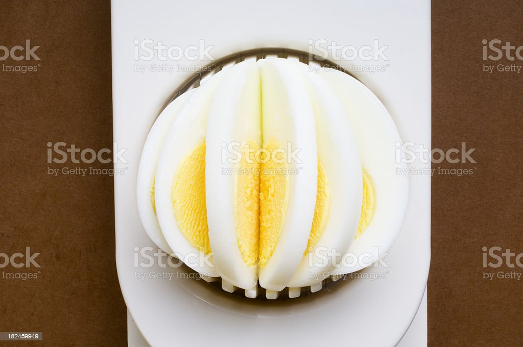 Sliced Hard Boiled Egg royalty-free stock photo