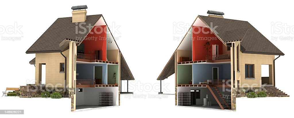 Sliced House stock photo